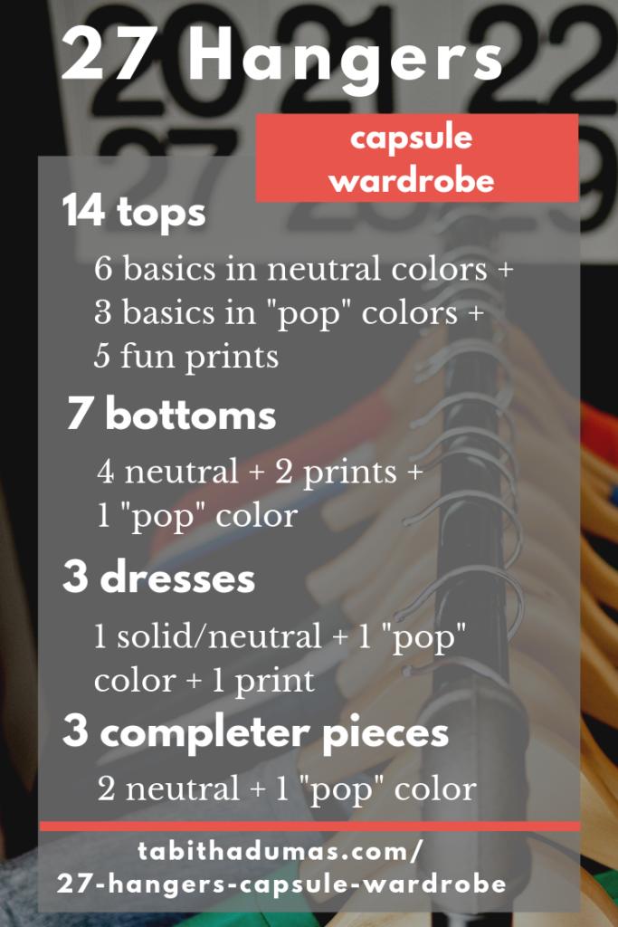 27 Hangers capsule wardrobe online academy - Tabitha Dumas
