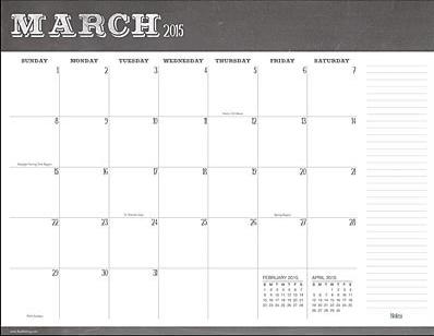 Desk Blotter Calendar Desk Design Ideas - Desk blotter calendar