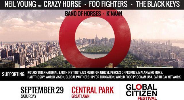 Il 29 Settembre si è svolto a Central Park il Global Citizen Festival dove hanno suonato i Foo Fighters, The Black Keys, e Neil Young & Crazy Horse.
