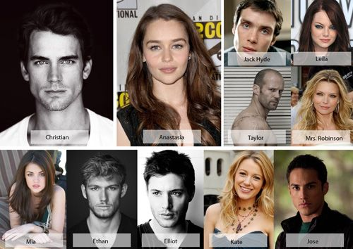 Fifty Shades Of Grey Dream Cast Huh I Actually Can See Almost All Of These Being A Perfect Fit Shades Of Grey Movie Fifty Shades Darker 50 Shades Of Grey