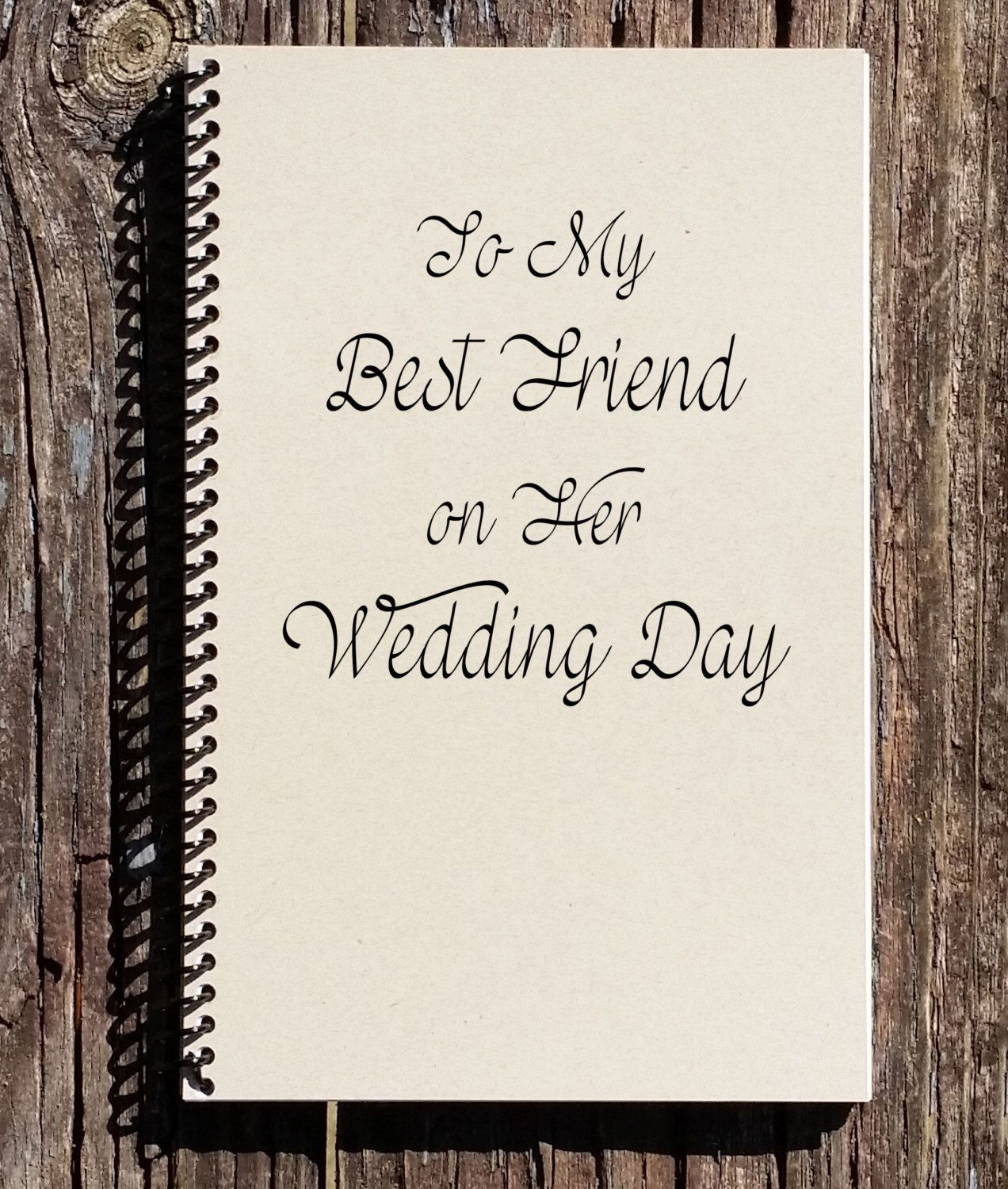 To My Best Friend On Her Wedding Day Gift Maid Of Honor By Culturalbindings Etsy