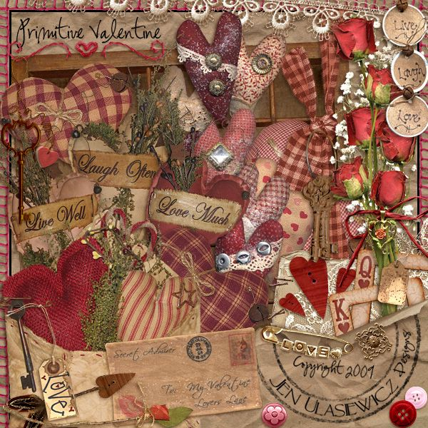 WendyW Scraps!: This is harder than I thought... Valentine collage....a work of art!!!