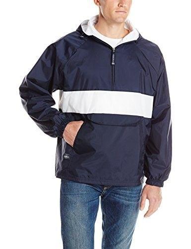9affecebd243 Charles River Mens Striped Hooded Packable Windbreaker Jacket. 9908 ...