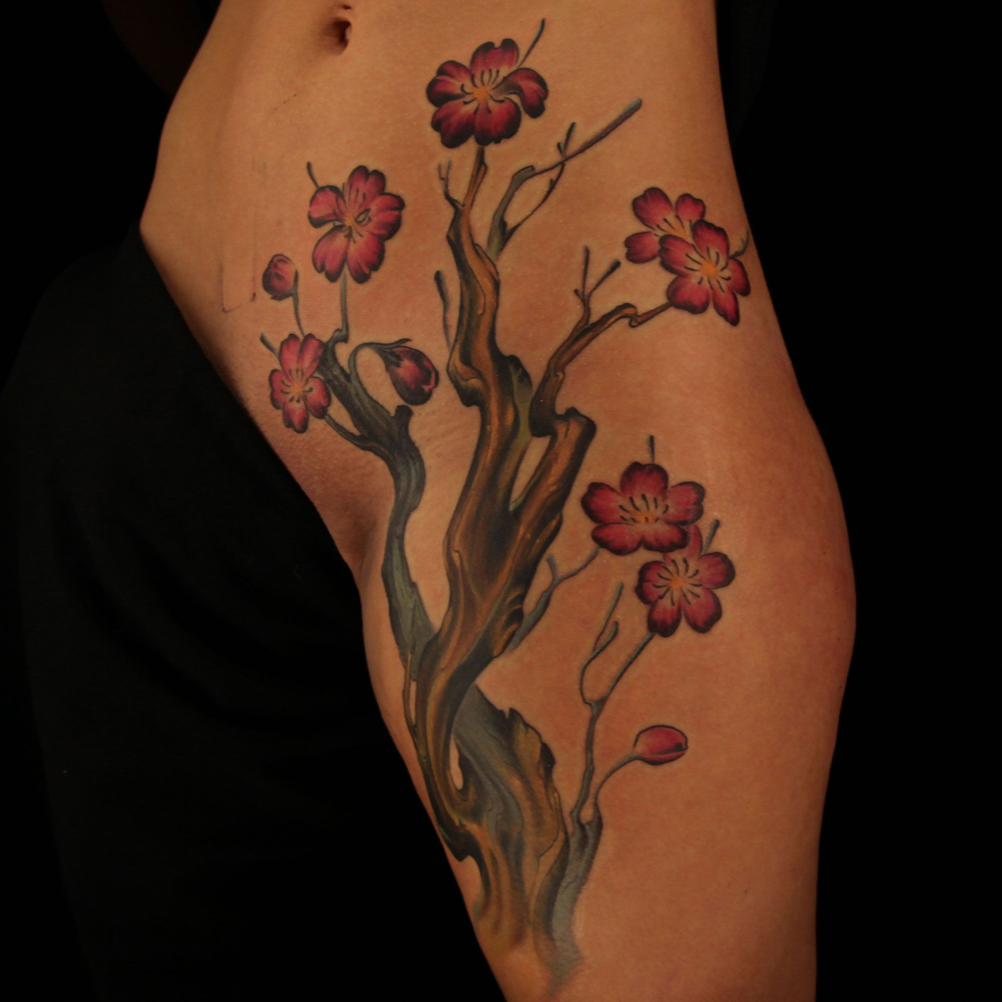 Cherry Blossom Cover Up Tattoo By Tattoo Artist Kyle Dunbar From