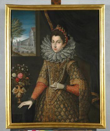 Ritratto di Caterina Micaela d'Austria moglie di Carlo Emanuele I di Savoia, 1590-1595, Palazzo Madama, Turin.