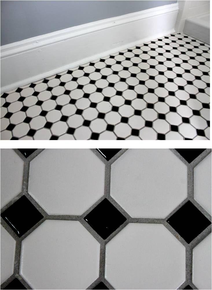 Wth Black Pebble Tile Black Grout Black White Hexagon Tile With