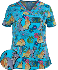 Print Scrub Tops For Women Large Selection And Discount