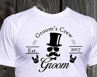 11802210 Groom's Crew Shirts, Tshirts, Grooms Crew, Groomsmen T-Shirts, Custom Groomsmen  Shirts, Wedding Party Shirts, Funny Shirt, Custom Shirts