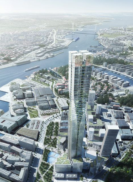 SOM unveils latest skyscraper proposal – a 230-metre tower for Gothenburg. #ndhsearch #SOM #supertallarchitecture #SOMskyscarper #Gothenburg