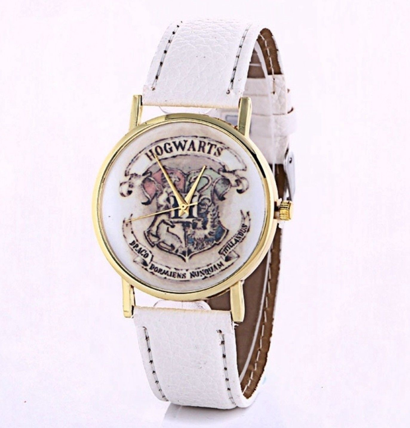 Free gift bag faux leather white strap ladies mens harry