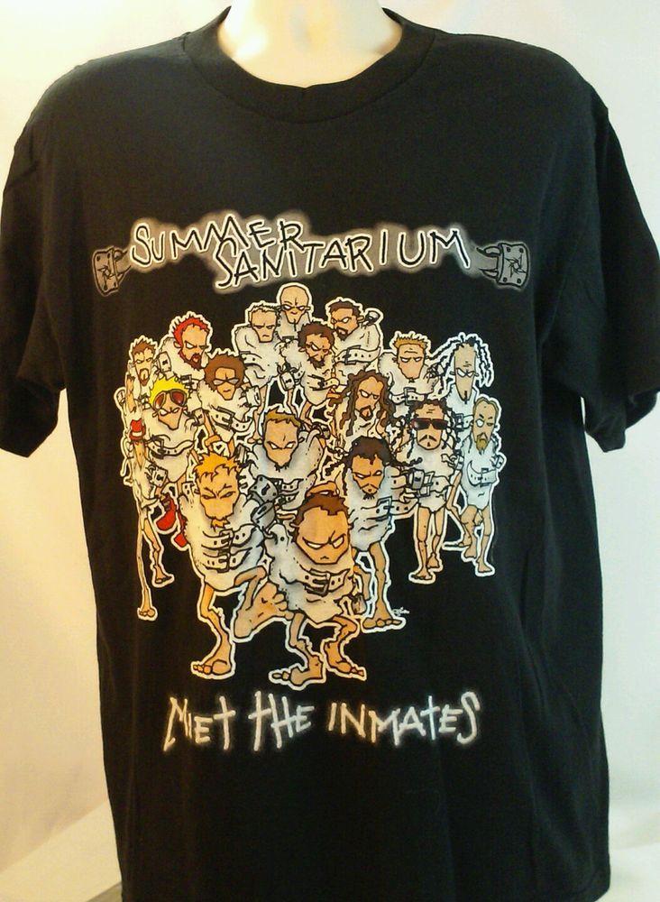 e877eeae ORIGINAL Concert Tour T SHIRT METALLICA SUMMER SANITARIUM 2000 KID ROCK  SIZE XL #Giant #GraphicTee