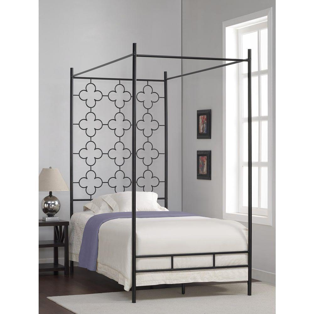 Quatrefoil Twin Canopy Bed  sc 1 st  Pinterest & Quatrefoil Twin Canopy Bed   Bedroom Designs   Pinterest   Twin ...