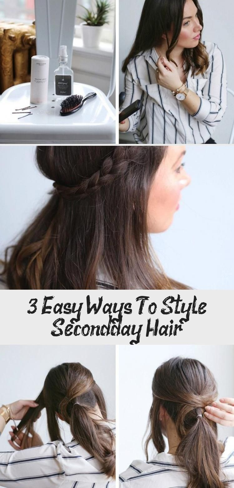 3 Easy Ways To Style Second Day Hair Hair Styles Work Hairstyles Low Bun Professional Hairst In 2020 Second Day Hairstyles Work Hairstyles Professional Hairstyles