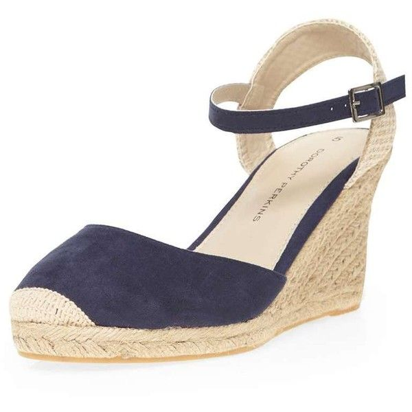 145ec0e3d55 Dorothy Perkins Navy  Venice  espadrille wedges ( 35) ❤ liked on Polyvore  featuring shoes
