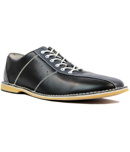 quality design 47677 9edb6 All Up Retro Mod 60s Northern Soul Bowling Shoes in Black Blue from Madcap  England  madcapengland  bowlingshoes  bowling  northernsoul  retro  mod  60s
