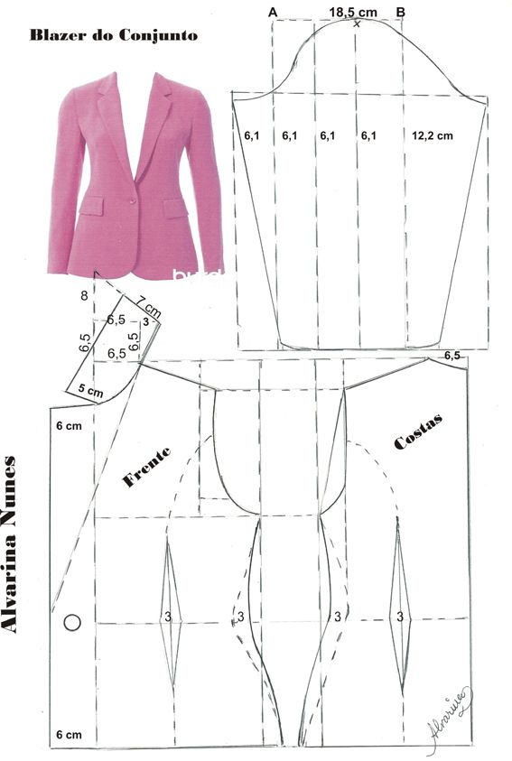 Costura e Modelagem | chalecos | Pinterest | Molde, Costura y Patrones