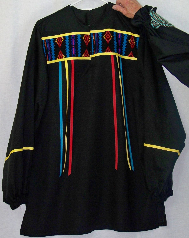 Native American Style Ribbon Shirt By Sharondenson On Etsy
