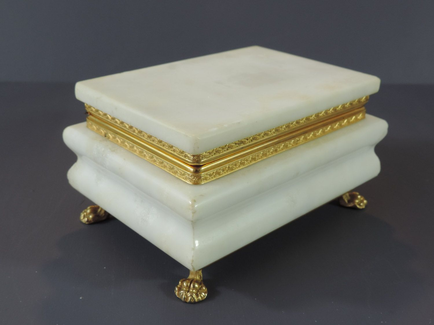 Vintage Alabaster Box French Vintage Alabaster Box French Vintage