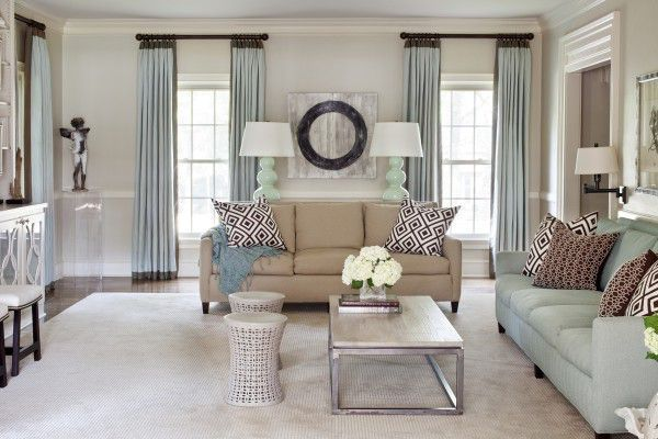 Modern Elegant Living Room Curtain Ideas · #Home #Decor Via   Christina  Khandan On