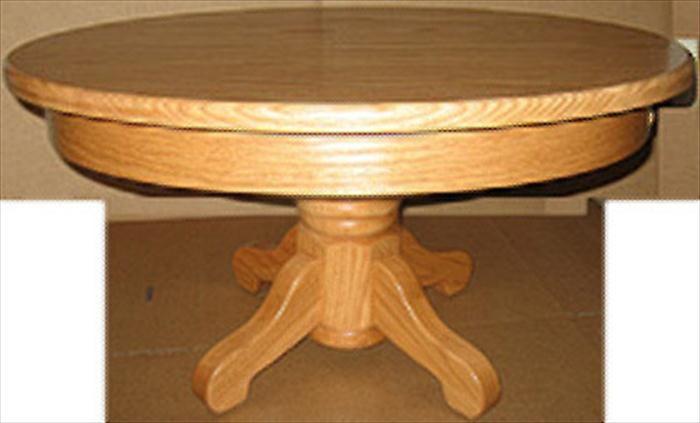 Amish Coffee Table Oak Or Cherry Or Quarter Sawn Oak Hardwood Round Plain  Pedestal