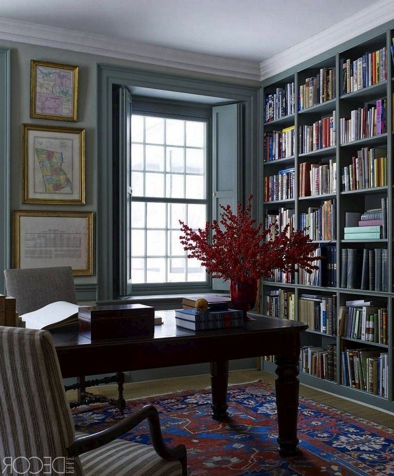 Stunning Library Room Design Ideas With Eclectic Decor  Page 26 of 58  58 Stunning Library Room Design Ideas With Eclectic Decor  Page 26 of 60 58 Stunning Library Room D...