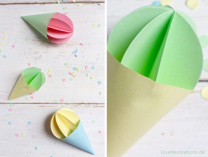 DIY Eis Anhänger // DIY Ice Cream Ornaments