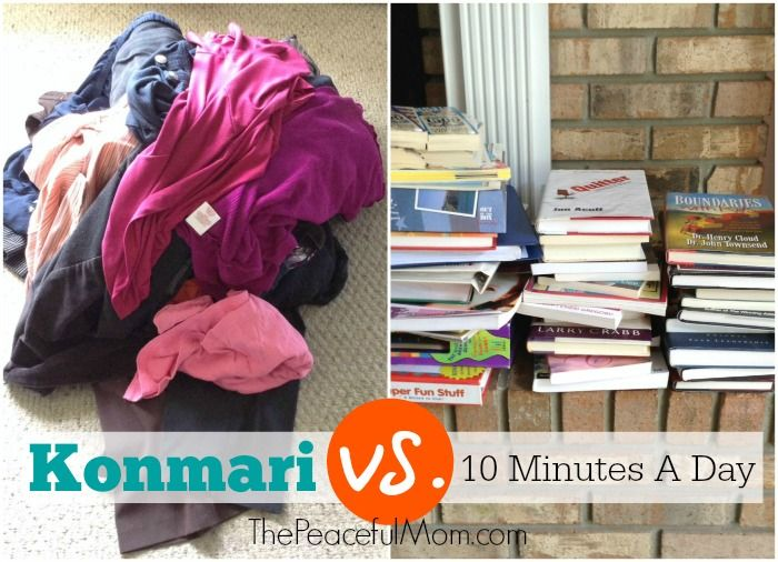 My decluttering test konmari vs 10 minutes a day for Minimalisme rangement