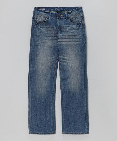 Another great find on #zulily! Steel Blue Straight-Leg Jeans - Boys by Calvin Klein Jeans #zulilyfinds