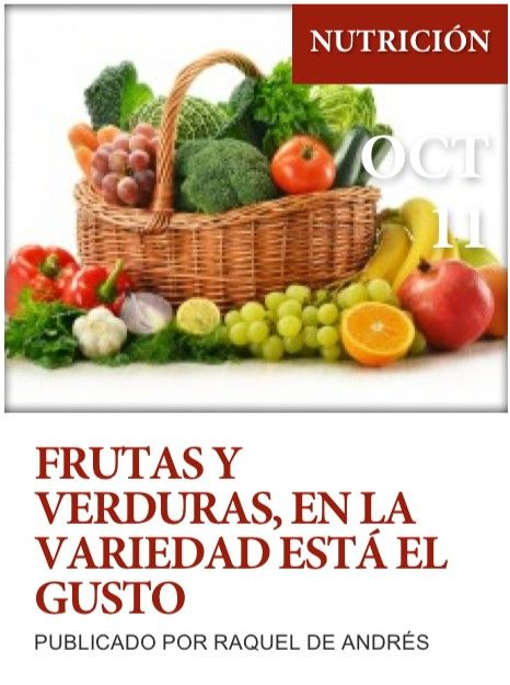 """Post sobre """"Las frutas y verduras"""" de nuestro blog http://www.siluetaalcompleto.es/"""