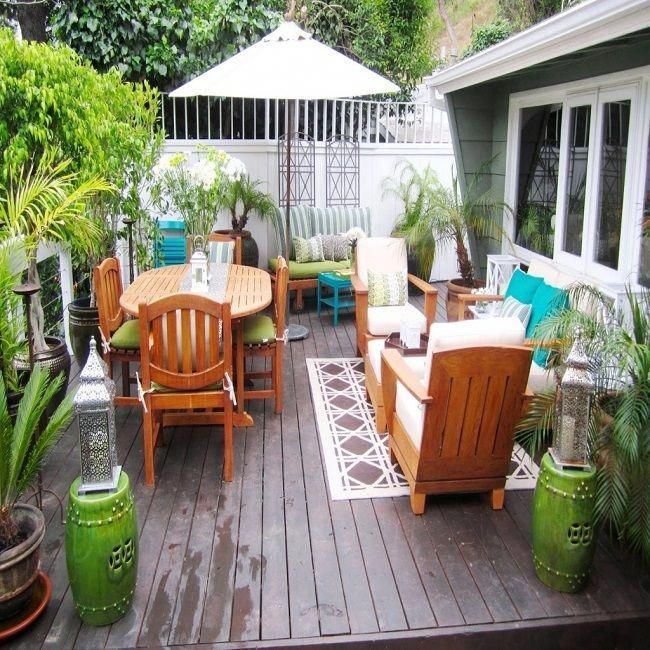 Small Garden Decking Ideas On A Budget: Decorating Porch Design On A Budget