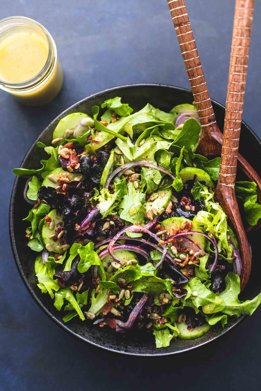 Best Simple Tossed Green Salad Green Salad Recipes Green Salad Healthy Green Salads