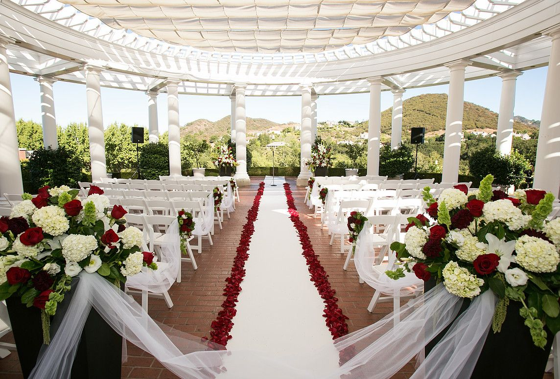 Best Los Angeles Wedding And Event Planners White Wedding Theme White Wedding Ceremony Red Rose Wedding