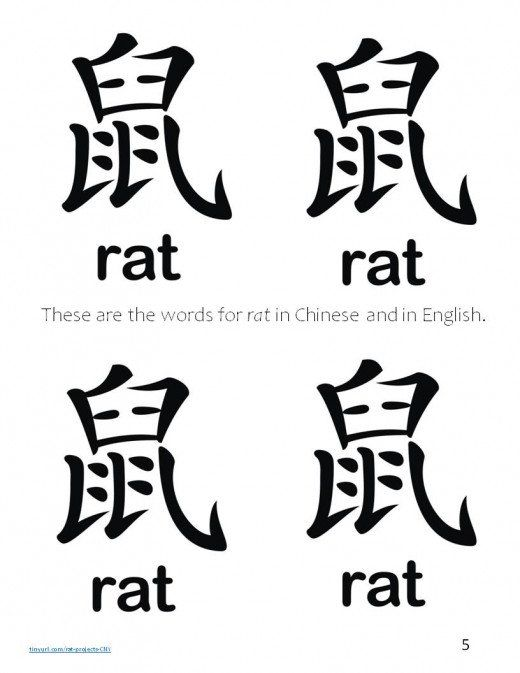 Printable Sheet for Year of the Rat