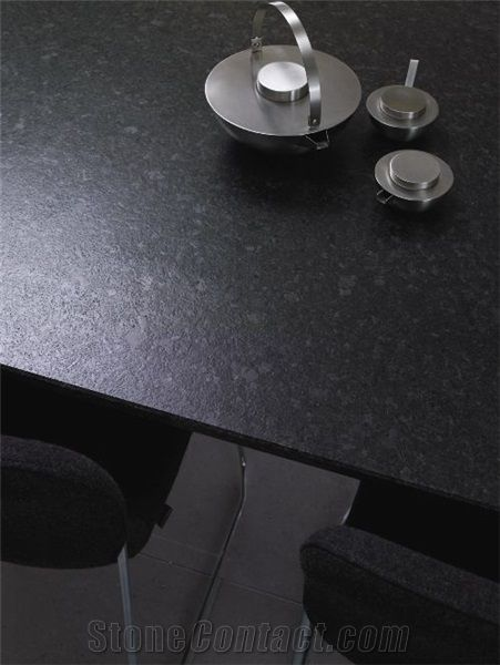 Angola Black Leather Granite Countertop Like The Gray Spots