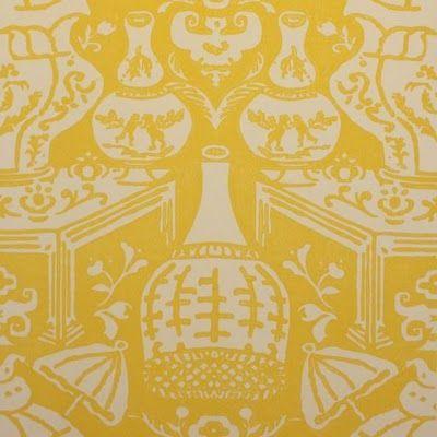 David Hicks Clarence House The Vase Wallpaper La Maison