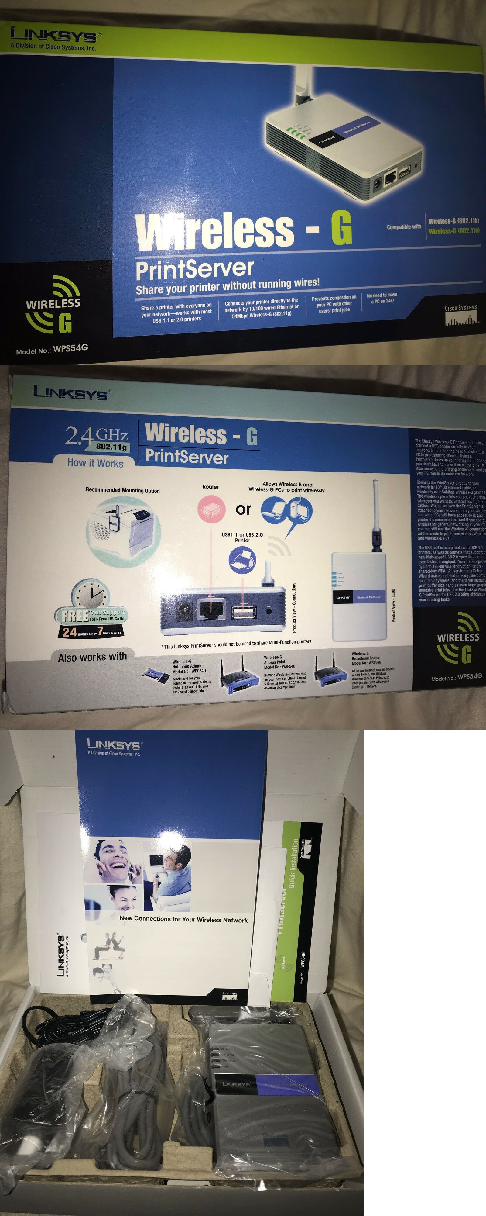 Print Servers 64052: New!! Cisco-Linksys Wps54g Wireless-G