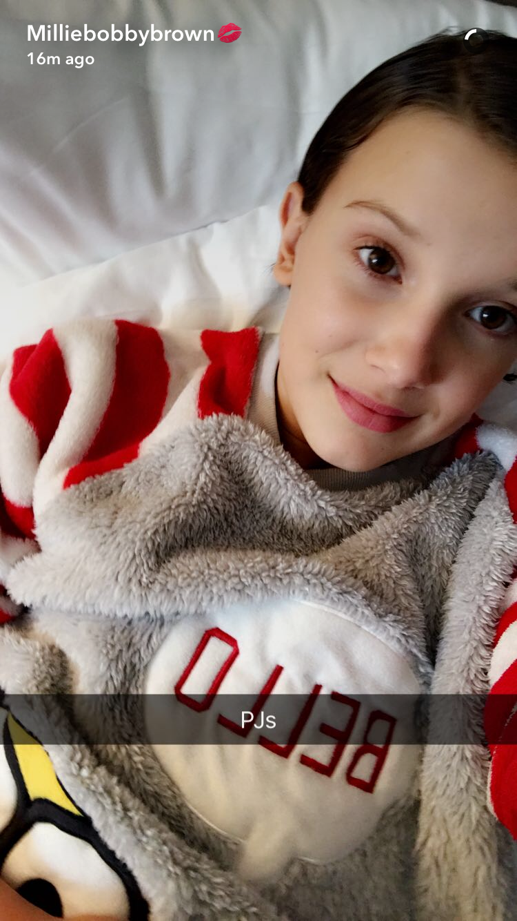 Millie looking great on snapchat!