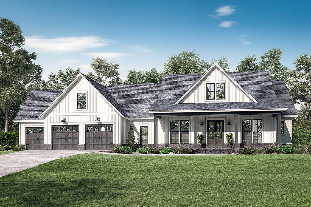 Southern Style House Plan 51999 With 4 Bed 4 Bath 3 Car Garage Farmhouse Style House Plans Farmhouse Style House Modern Farmhouse Plans