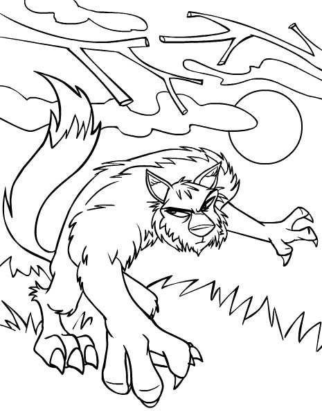 Neopets Werewolves | Neopets Coloring Pages | Pinterest | Werewolves
