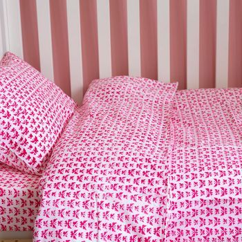butterfly toddler cot bed duvet set by lulu and nat   notonthehighstreet.com
