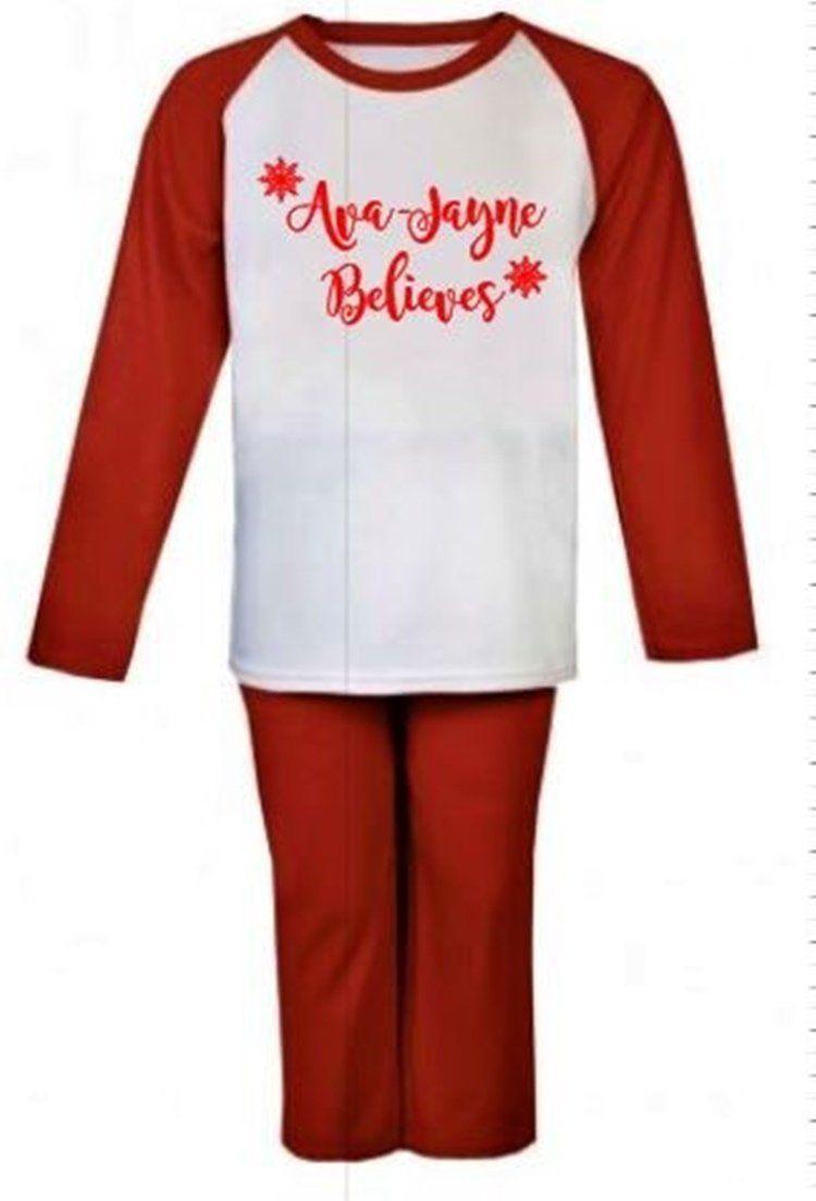 """unisex personalised kids christmas t shirt/"""" I believe/"""""""