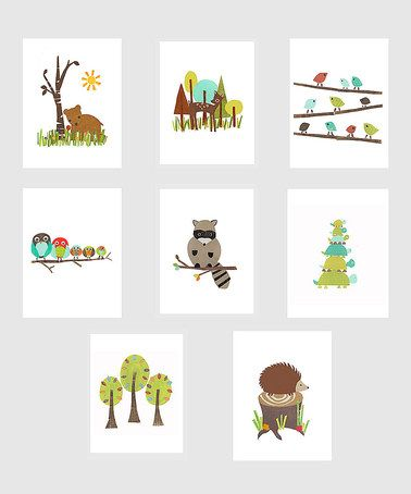Take a look at this Forest Friends Wall Card Set by Children Inspire Design on #zulily today!