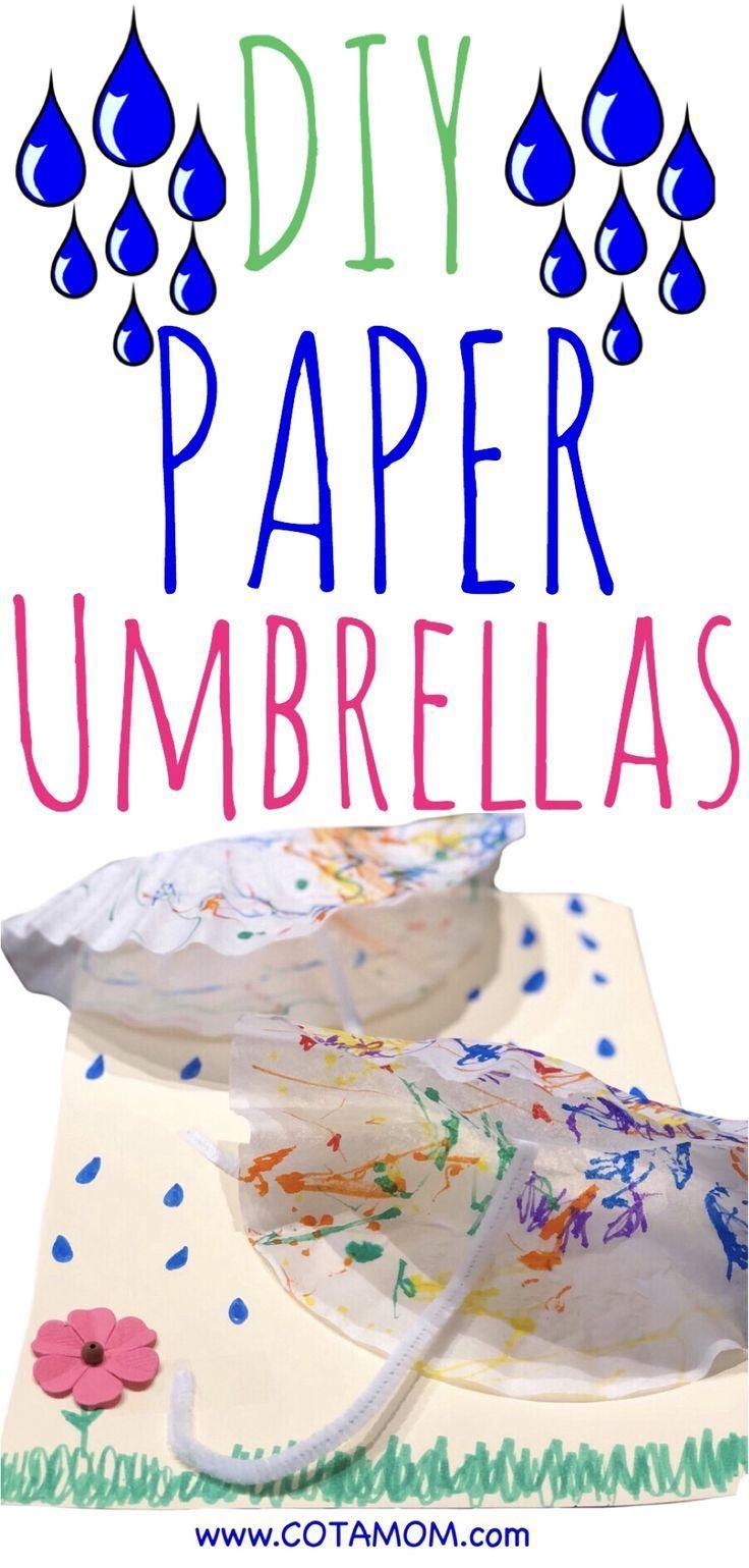 Diy paper umbrellas rainy day activities for kids