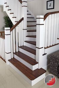 Awesome The New England Staircase The Cut String Design With Black Walnut Treads  And Handrail