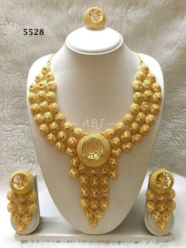 Designs 5528 Jewelry Necklace Bijoux Goldplatedjewelry Ring Imitationjewelr Jewelry Earrings Dangle Bridal Gold Jewellery Designs Gold Wedding Jewelry