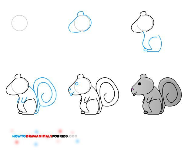 Comment dessiner un cureuil pour les enfants 3296 - Ecureuil a dessiner ...