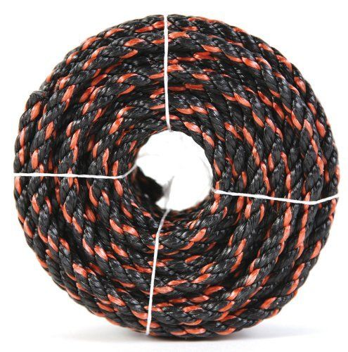 Koch 5031636 Twisted Polypropylene Rope 1 2 By 100 Feet Orange Black By Koch 24 00 From The Manufacturer Polypro Home Hardware Home