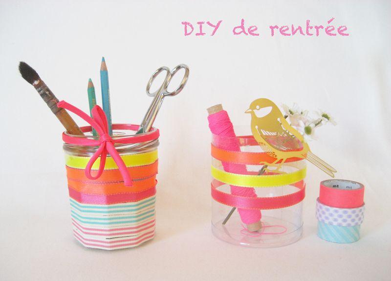 diy pot a crayon rubans frou frou jeux fabriquer activit s pinterest. Black Bedroom Furniture Sets. Home Design Ideas