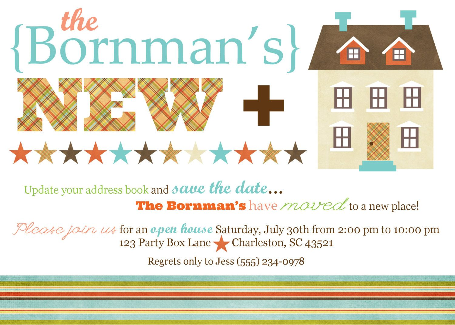 New Home Open House Party Invite (20 printed 5 x7). $33.50, via Etsy ...