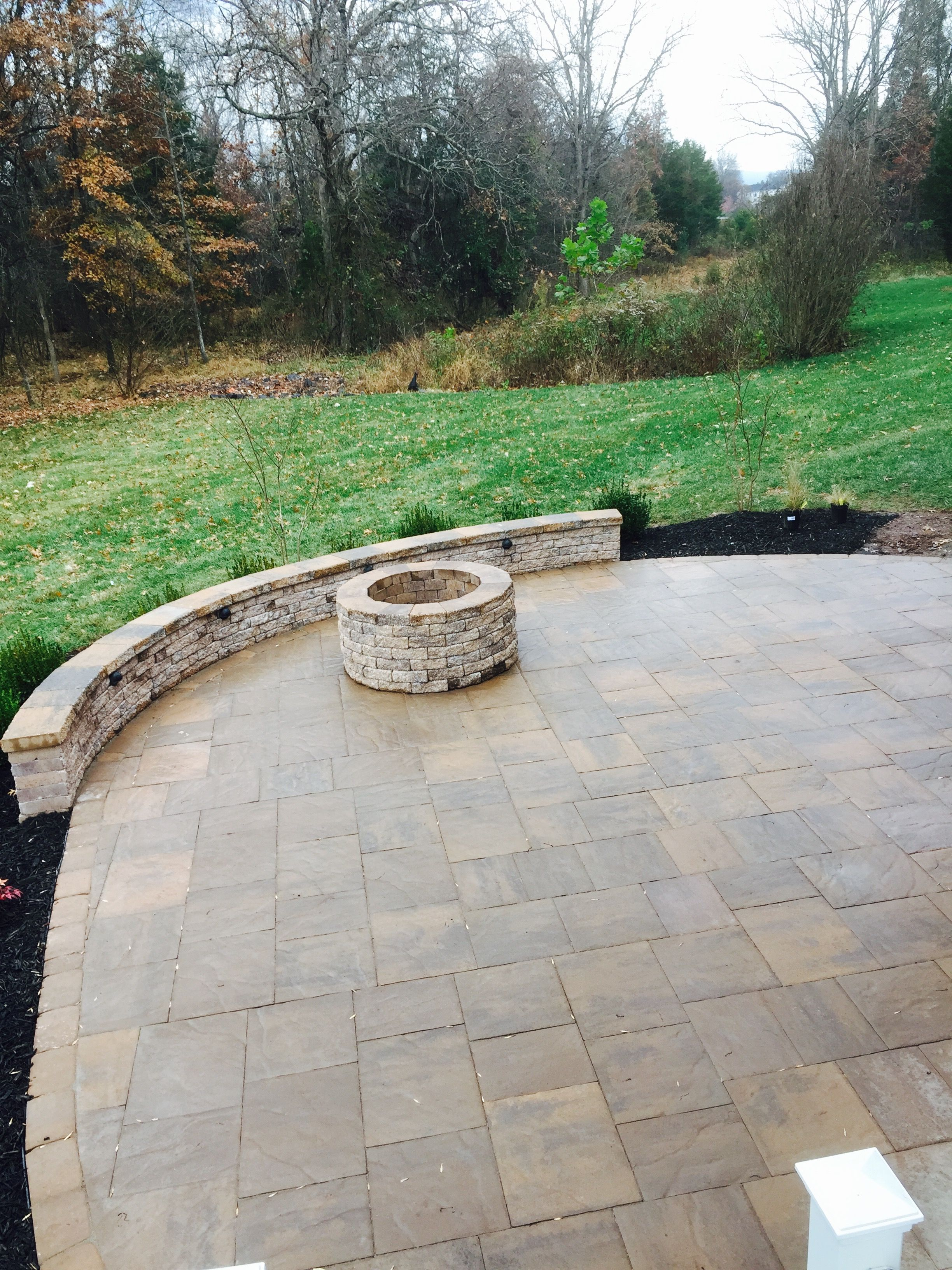 EP Henry Bristol Stone patio EP Henry Firepit and seat wall